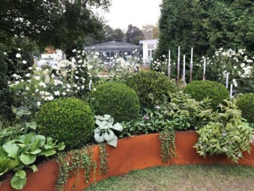 White and Green Structured Flower bed at Orticolario 2017 by the Garden Designer Roberto Landelli